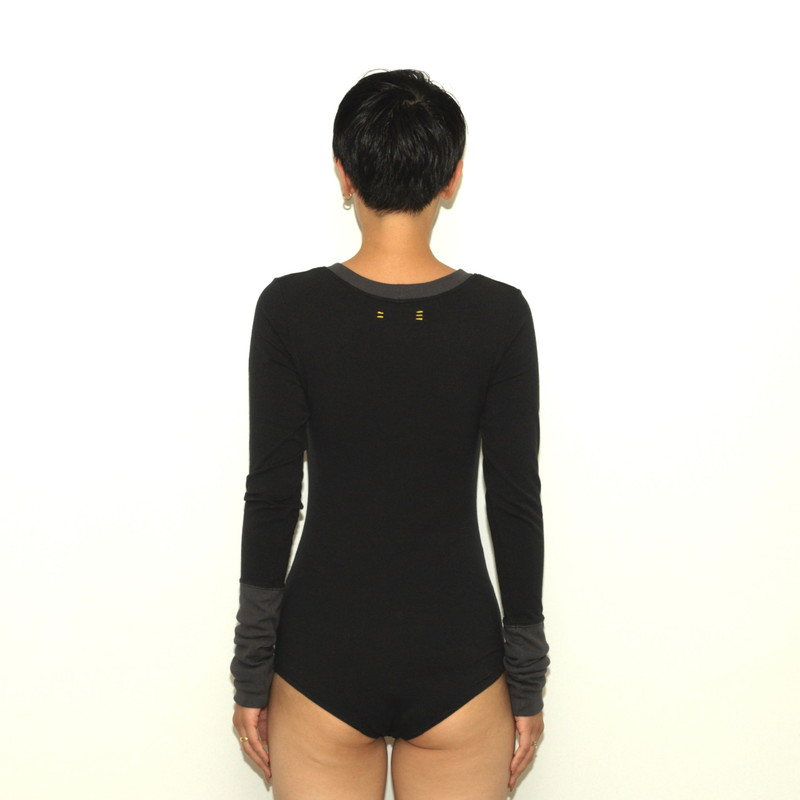 TRUE COTTON LONG SLEEVE STRETCH JERSEY BODY SUITS21SS-SC417NMC