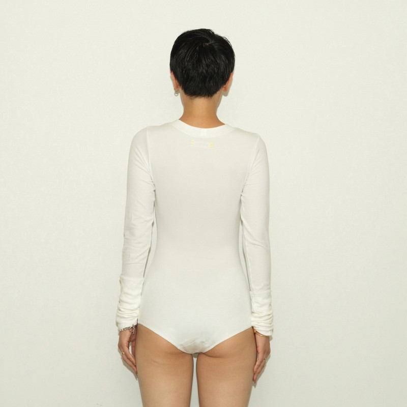 TRUE COTTON LONG SLEEVE STRETCH JERSEY BODY SUITS21SS-SC417NMW